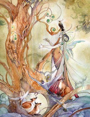 Lá Queen of Wands - Shadowscapes Tarot 1